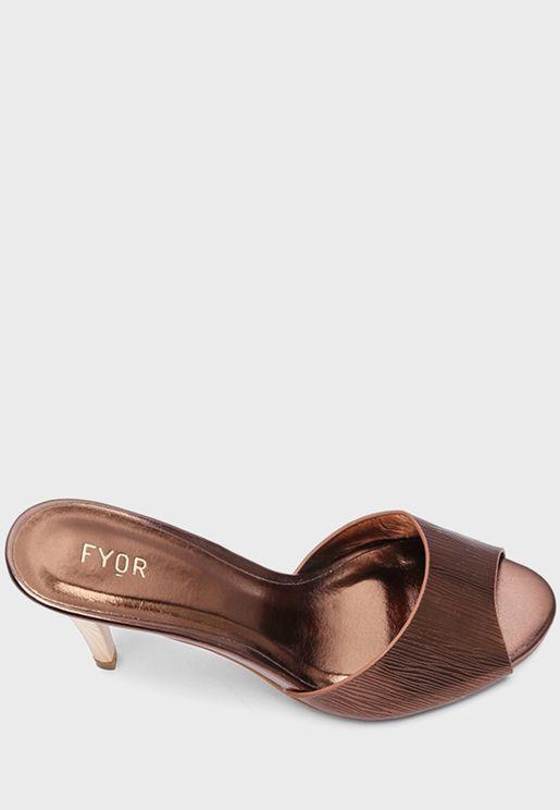 Embellished High Heel Sandal