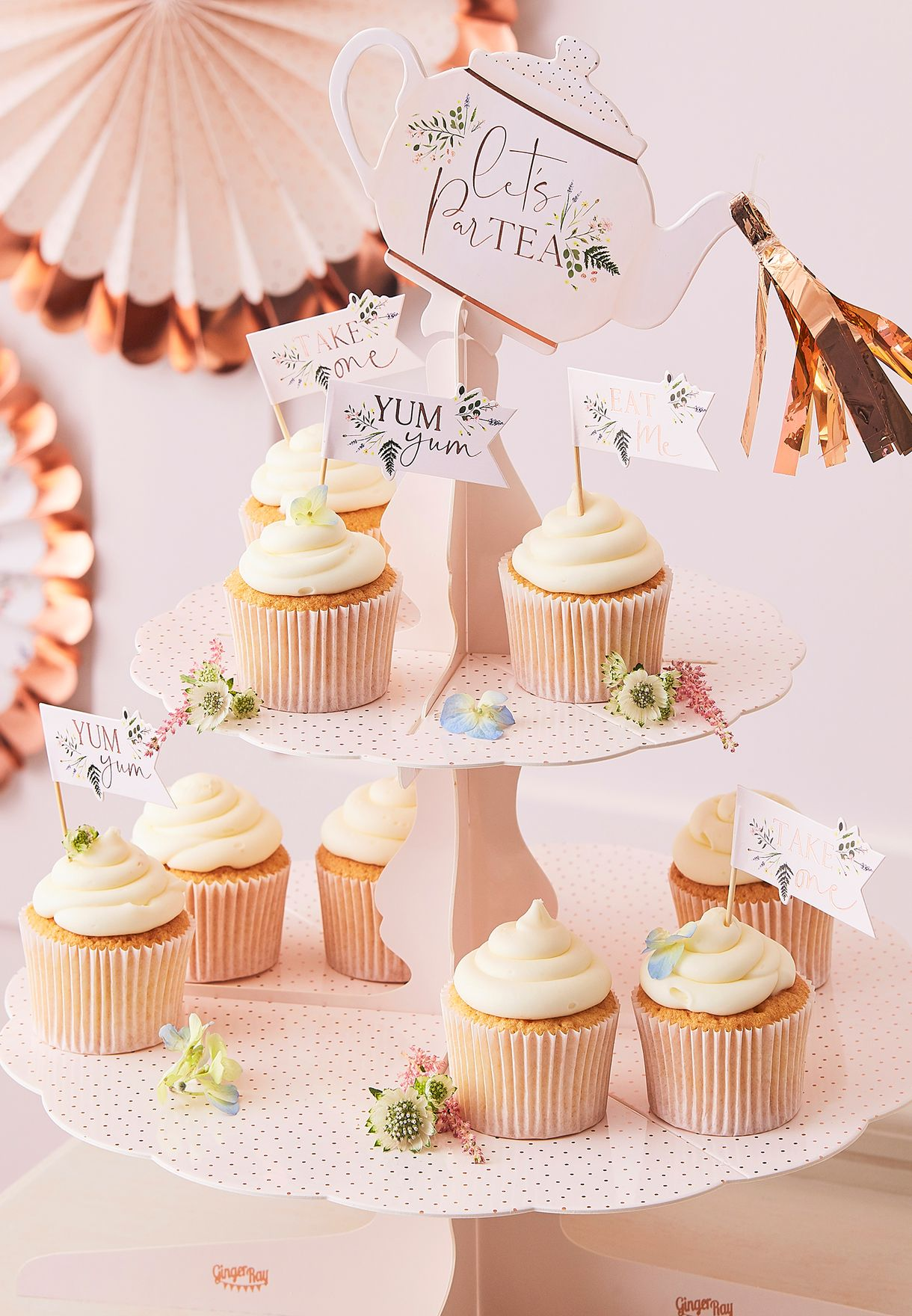 Tea Party Floral Cake Stand