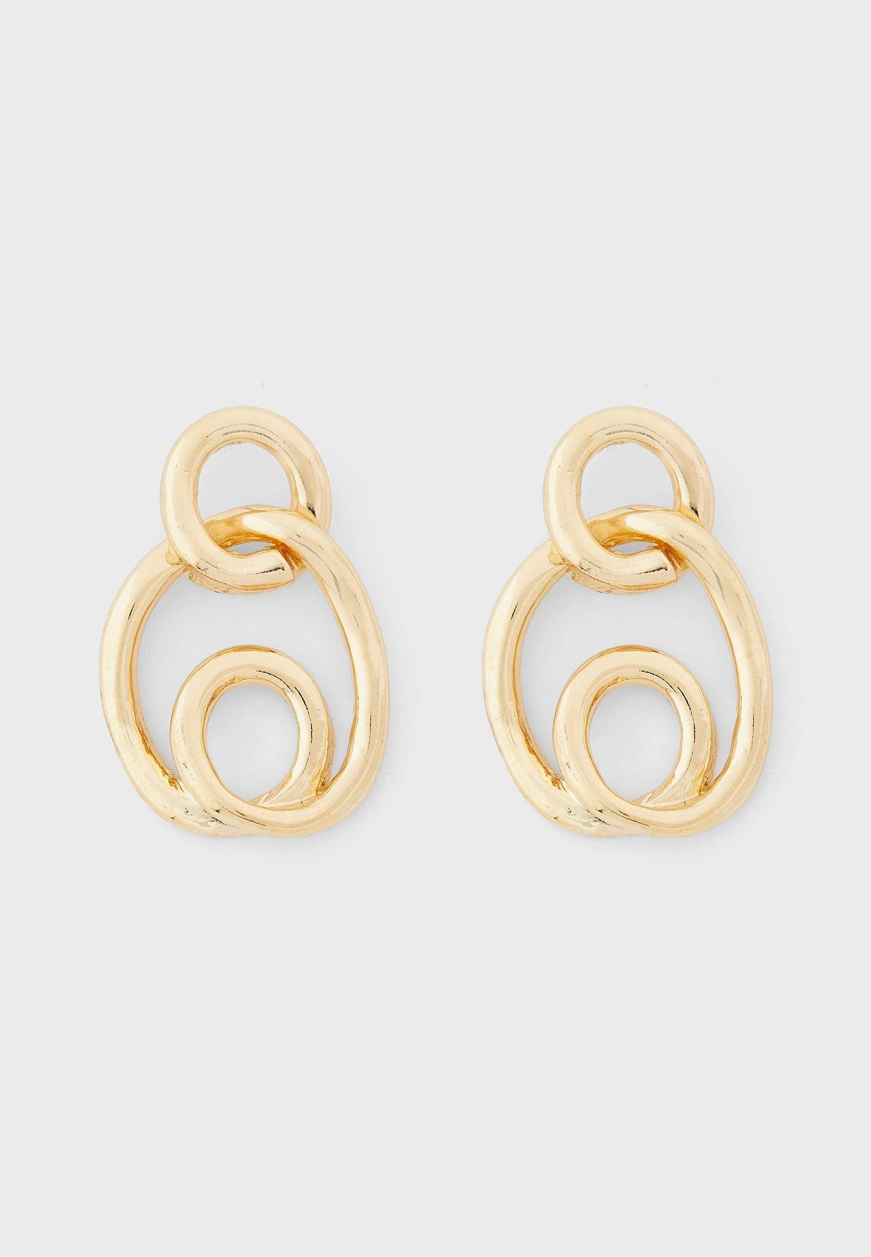 Swirly Design Earrings