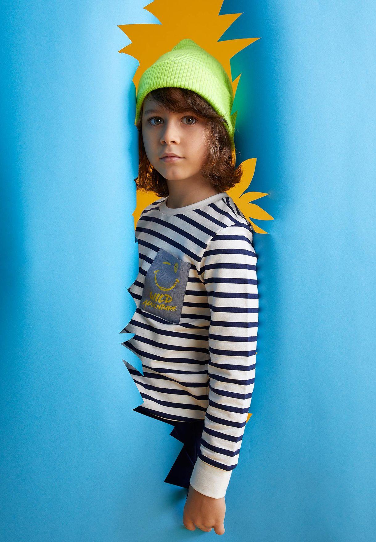 Kids Striped Sweatshirt