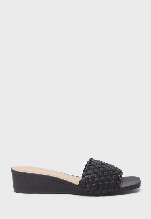 One Strap Wedge Sandals