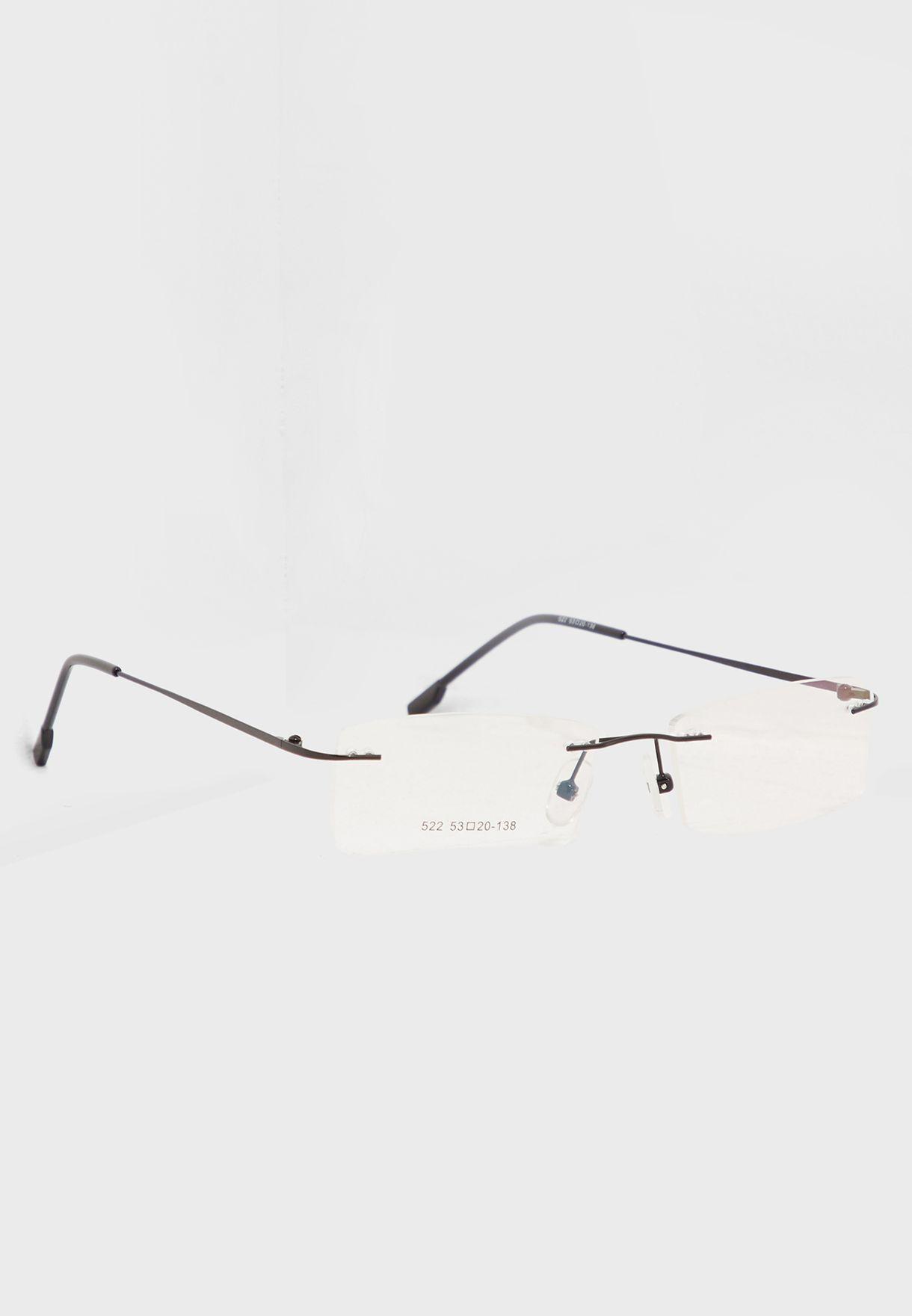 6d0e2a3a3f9 Shop Seventy five black Clear Rimless Glasses 522 for Men in UAE ...