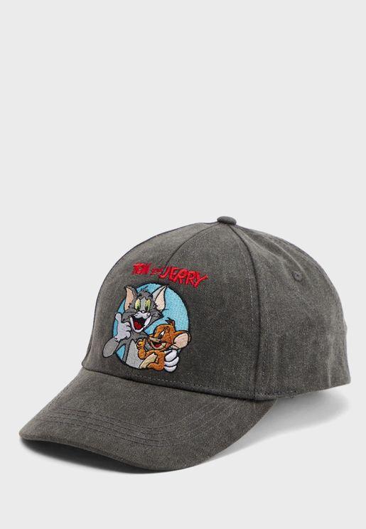 Tom & Jerry Curved Peak Cap