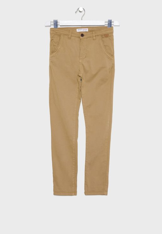 Teen  Belted Chinos