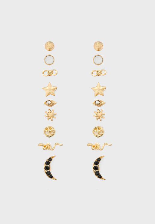 Multipack Celestial Stud Earrings