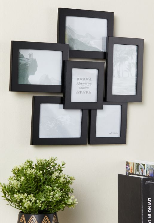 Black Six Photo Multi  Frame