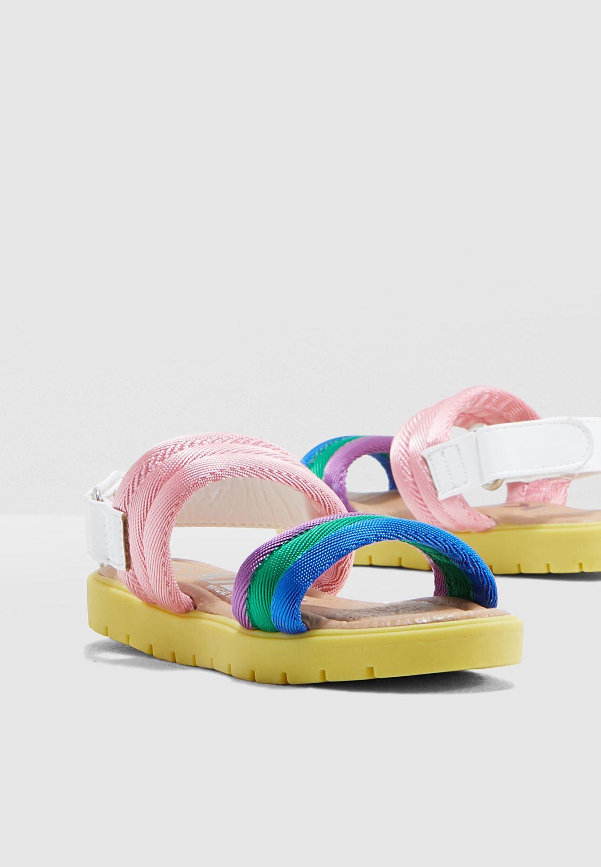 Kids Rainbow Strap Sandal