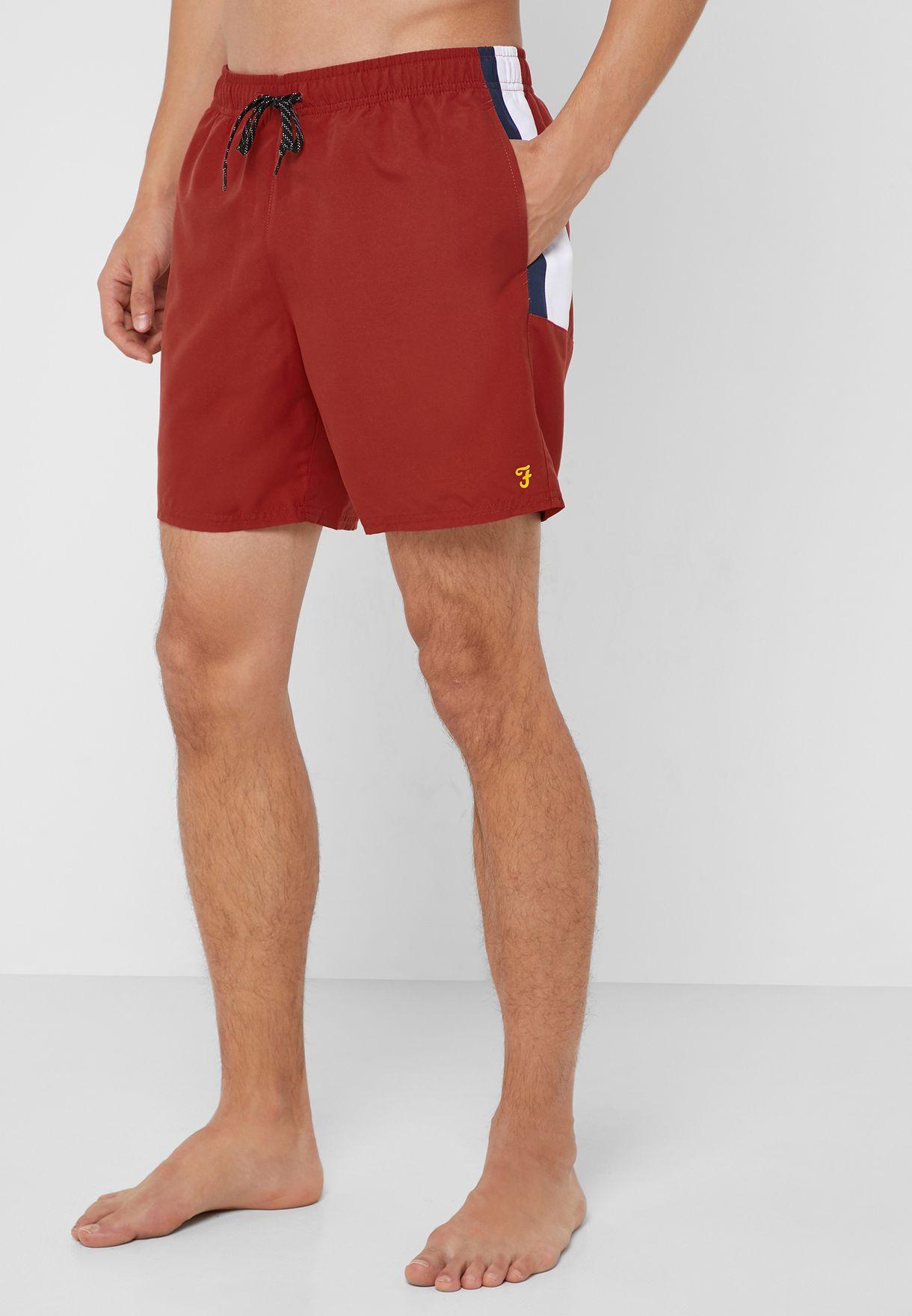 8653ae9aa9 Shop Farah orange Side Stripe Swim Shorts F6SS9004 for Men in UAE ...
