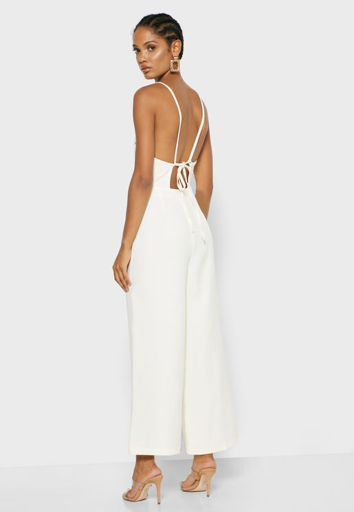 Cross Back Strappy Jumpsuit