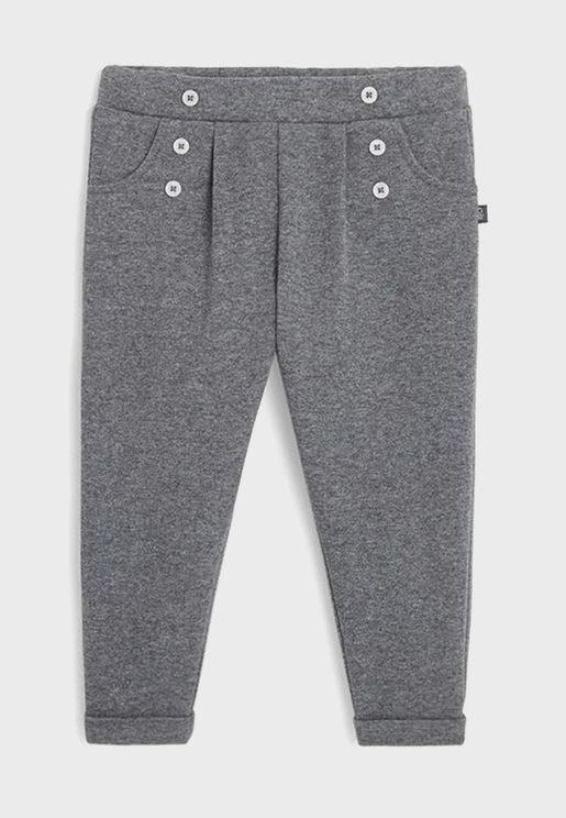 Kids Pleated Sweatpants
