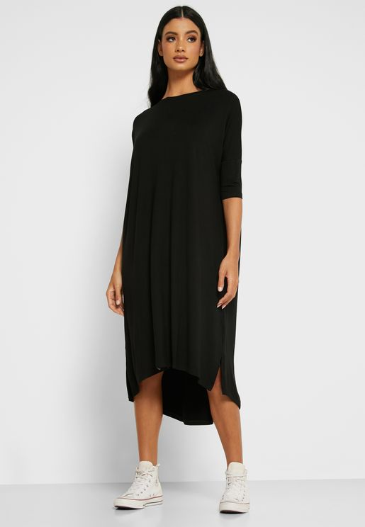 Oversized T-Shirt Midi Dress