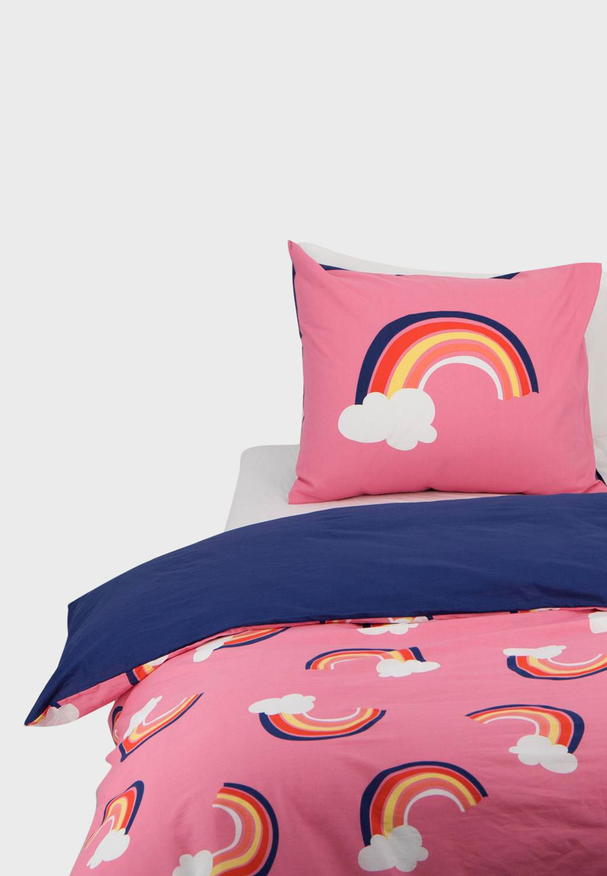 Kids Rainbow Printed Bedding Set 140x200cm