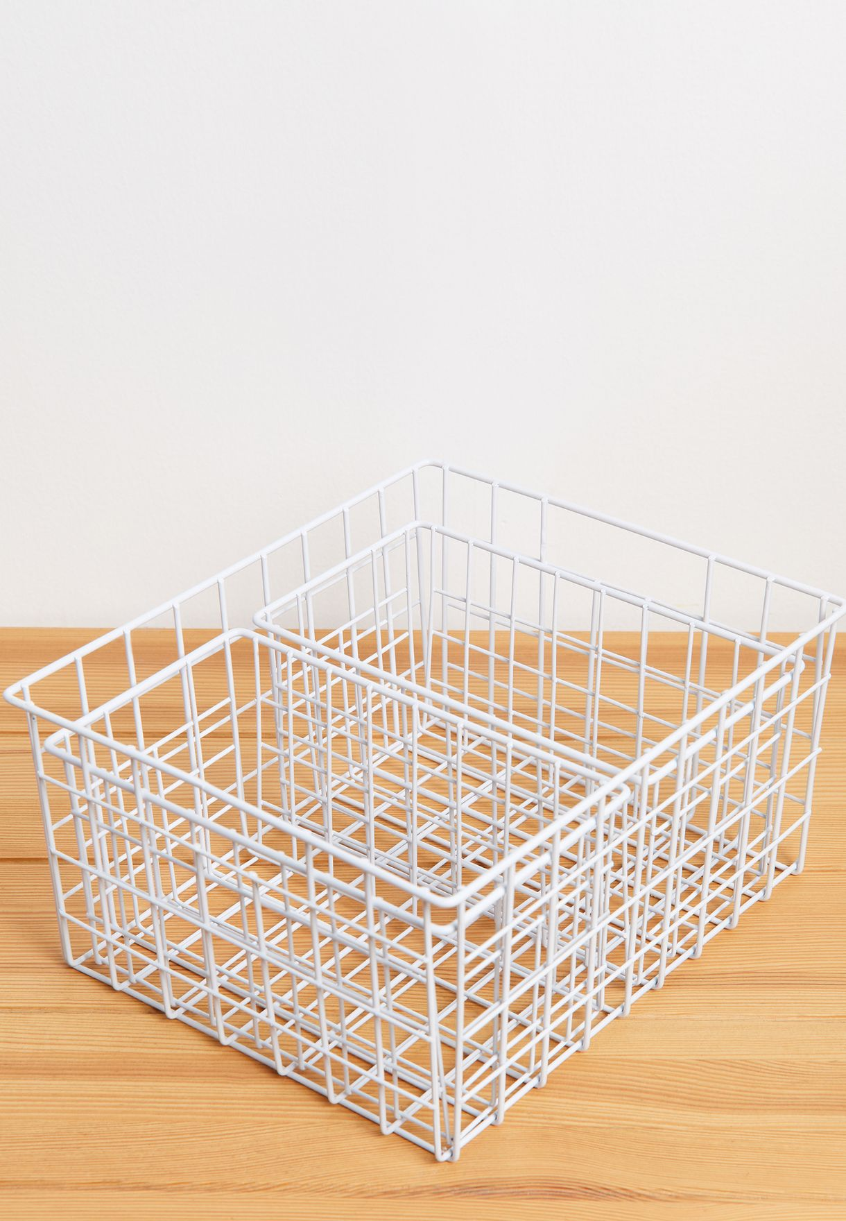 Set Of 3 Wire Basket