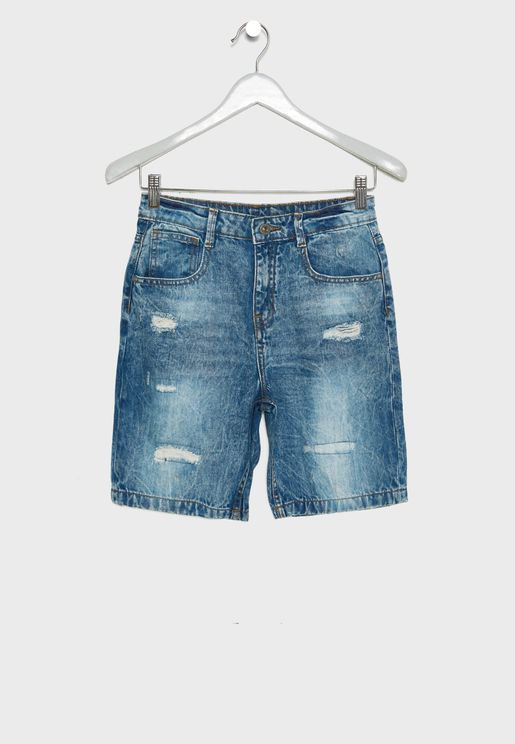 Kids Ripped Shorts