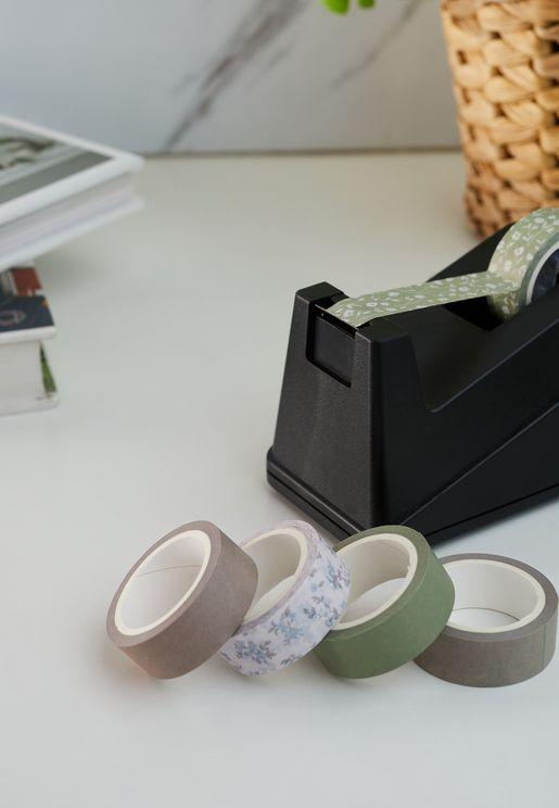 Set Of 5 Cottage Floral Washi Tape