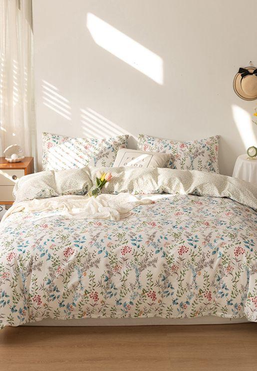 Floral Printed Bedding Set - King