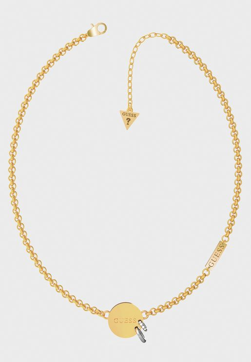 Small Chain Pierced Necklace