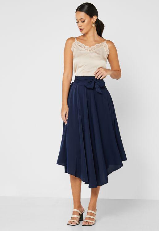 Self Tie A-Line Skirt
