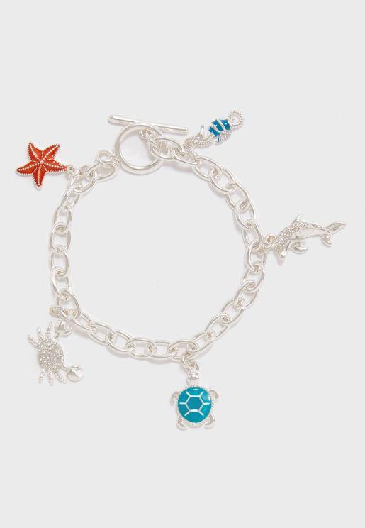 Sea Life Charm Bracelet