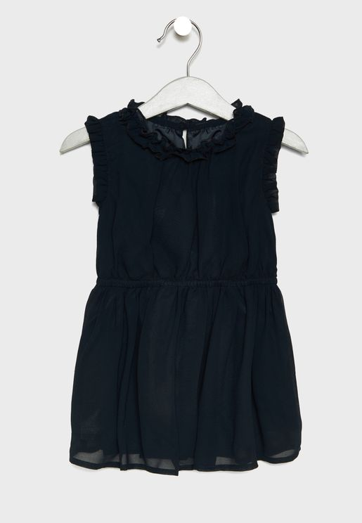 Kids Frill Sleeve Dress