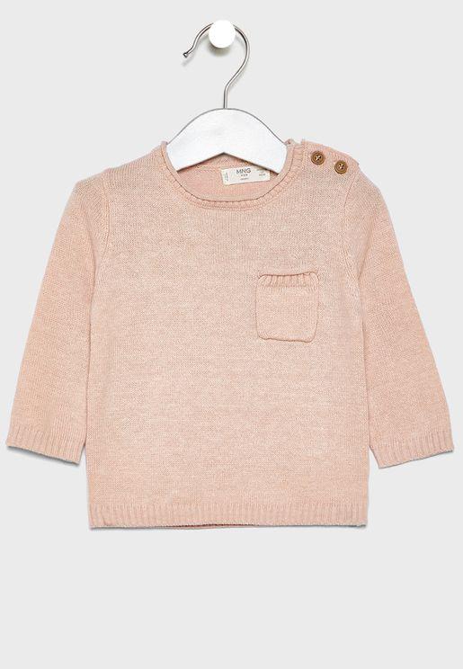 Infant Button Shoulder Sweater