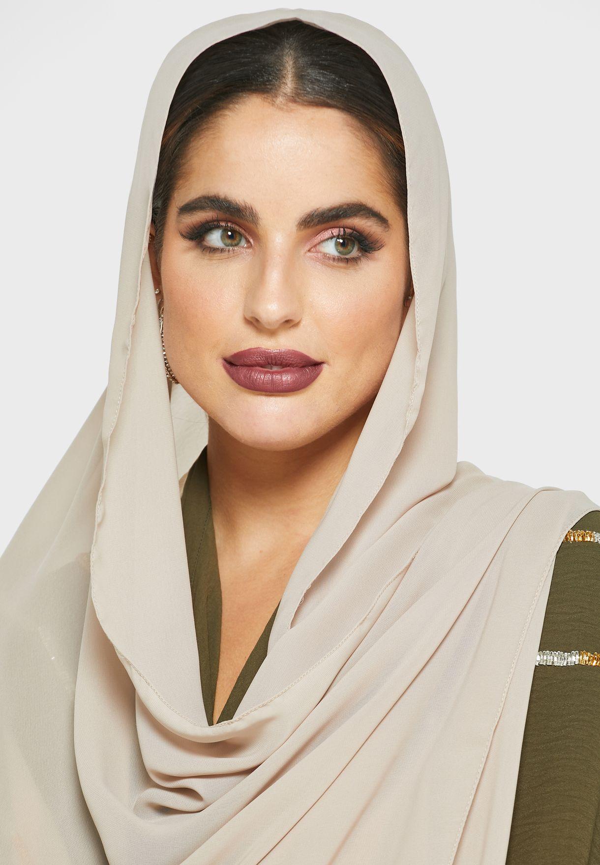 Colorblock Abaya