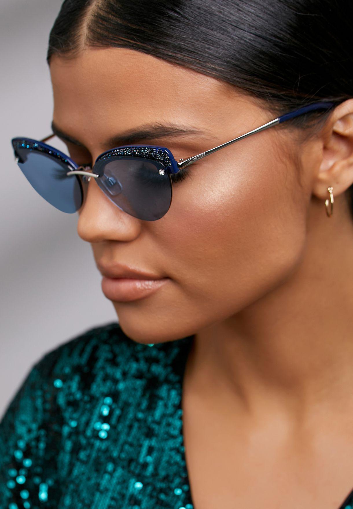 Blue Metal Sunglasses