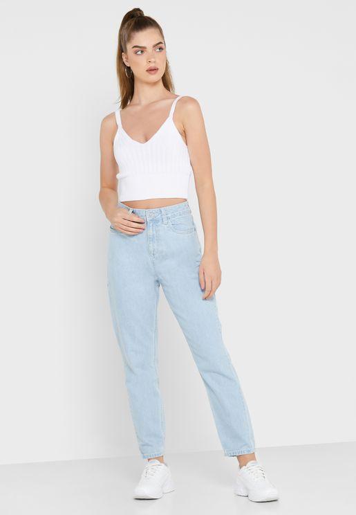 بنطال جينز مام فت