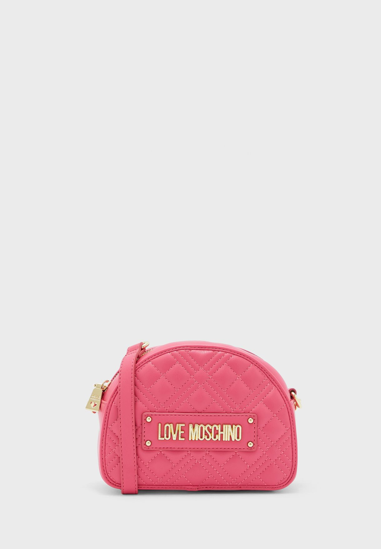 Quilted Moon Cut Crossbody