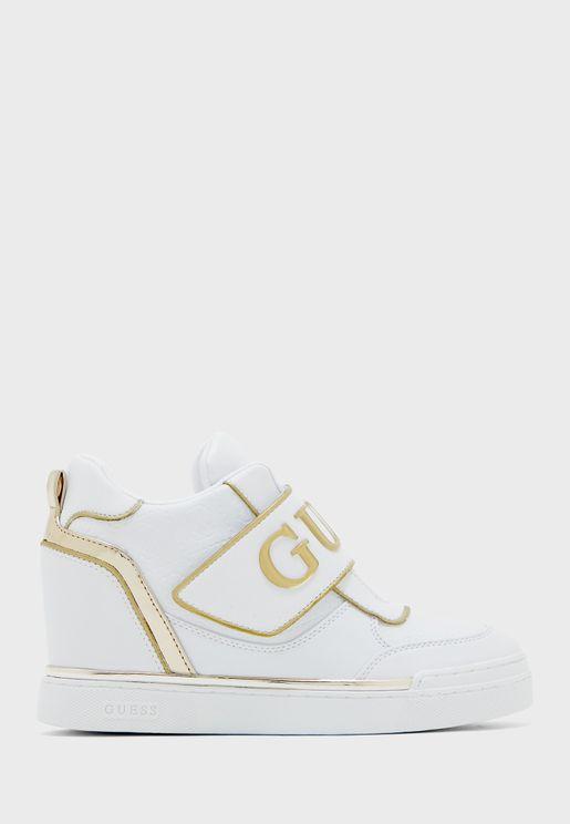 Follie High Top Sneaker - White