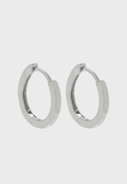 Clean Metal Huggie Hoop Earrings