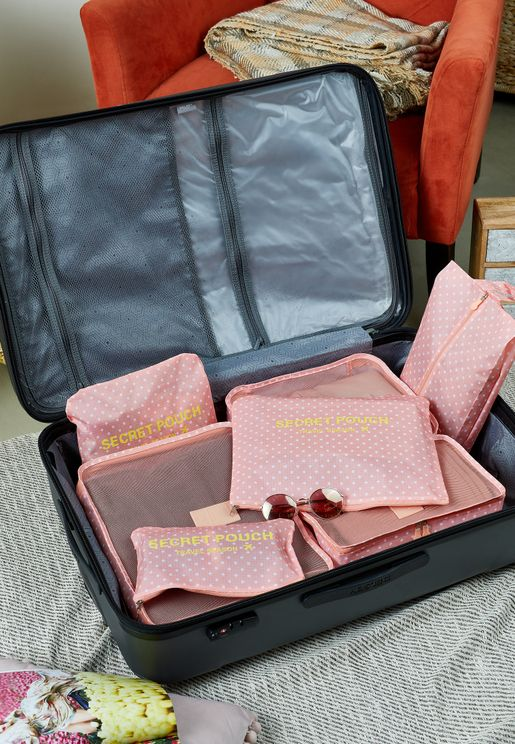 7 Piece Travel Suitcase Organiser Set