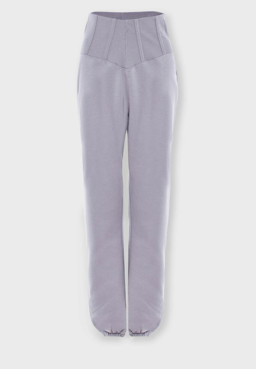 Corset Detail Sweatpants
