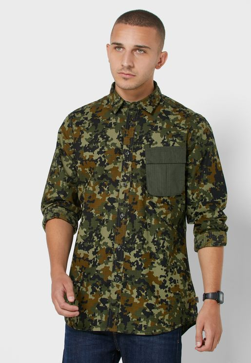 Hex Camo Relaxed Shirt