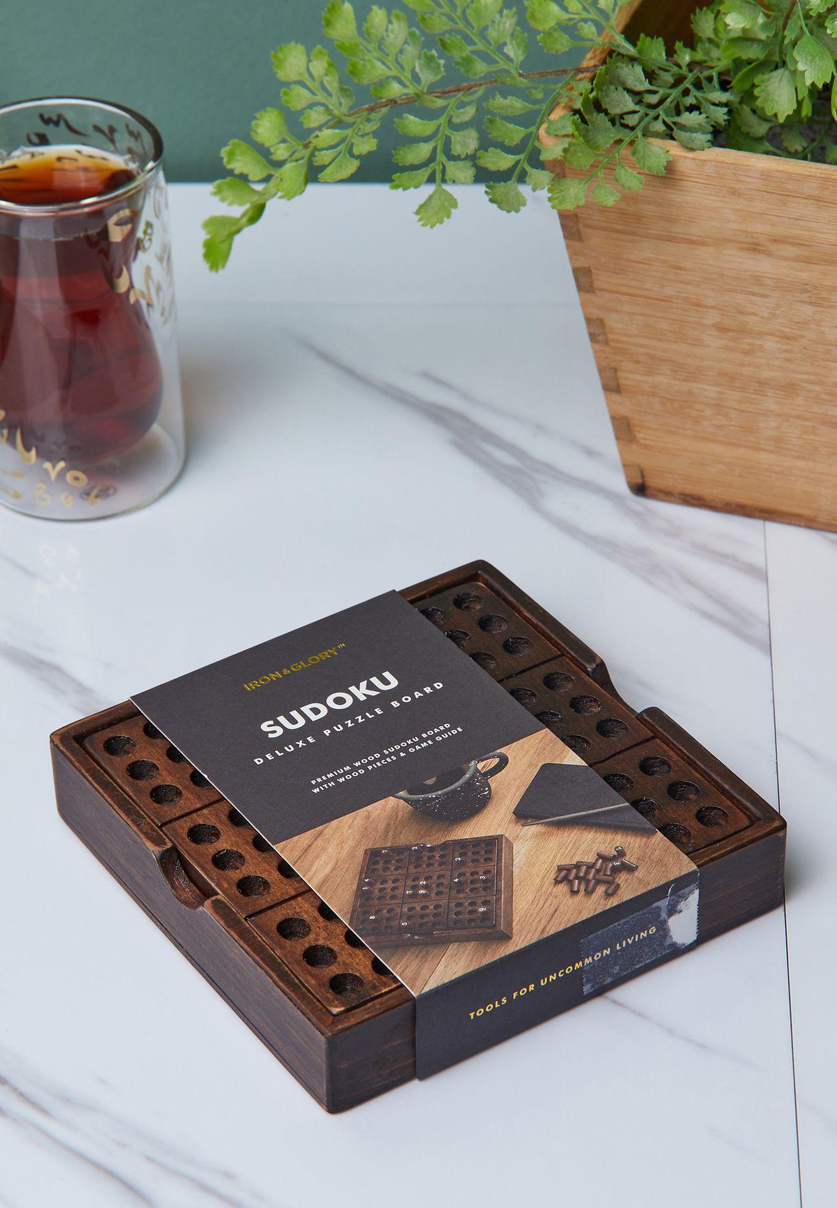 Premium Wooden Sudoku Puzzle