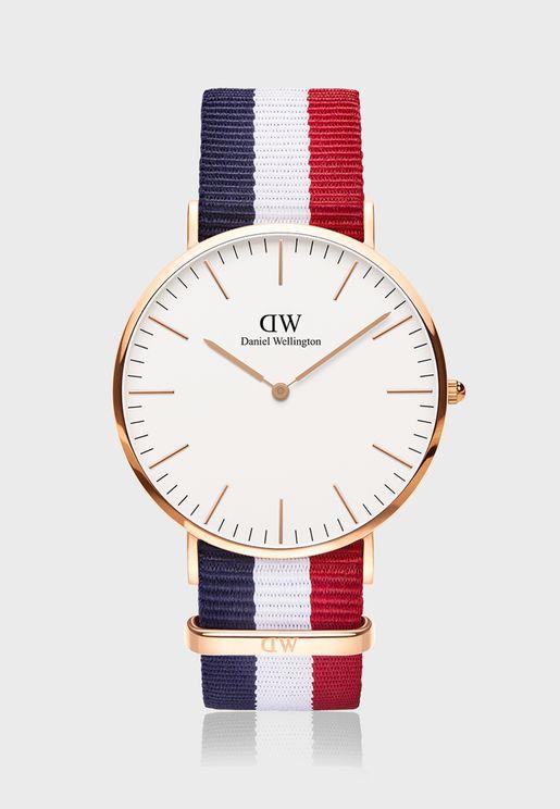 ساعة كامبريدج ار جي وايت الكلاسيكية 40 مم