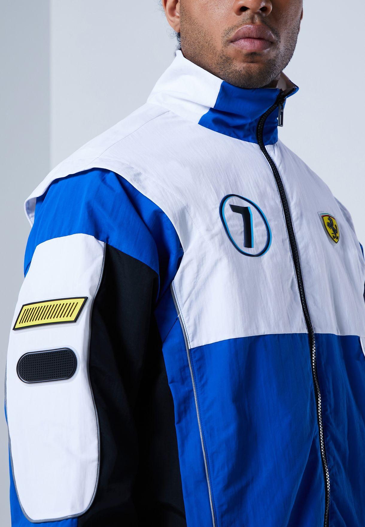 Buy Puma Blue Ferrari Race Street Woven Jacket For Men In Mena Worldwide 59793902