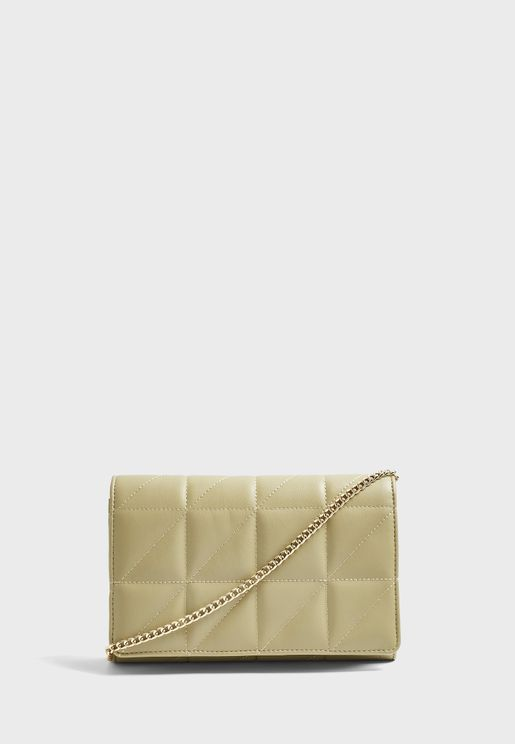 Quilted Sage Clutch