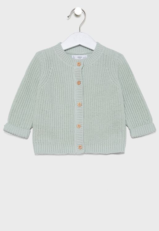 Infant Button Detail Cardigan