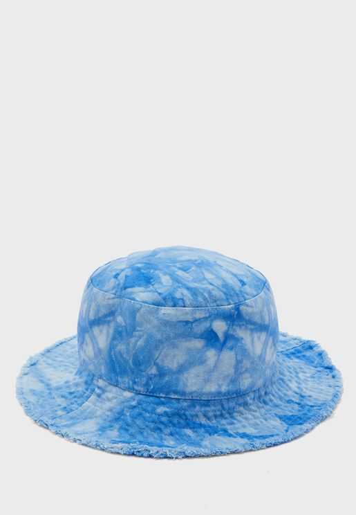 Tie Dye Fray Bucket Hat