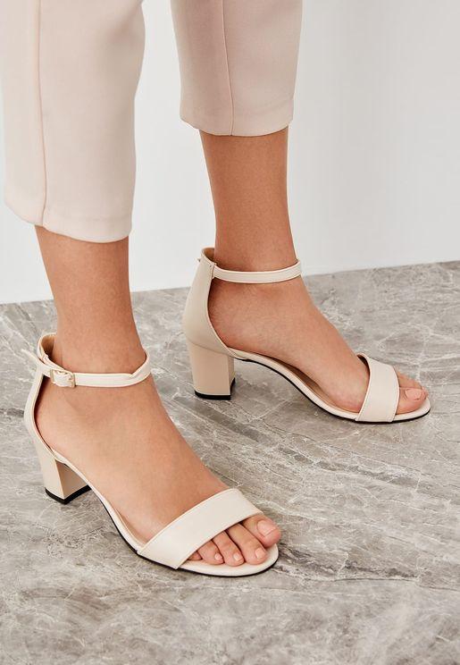 Ankle Strap Sandal - Skin