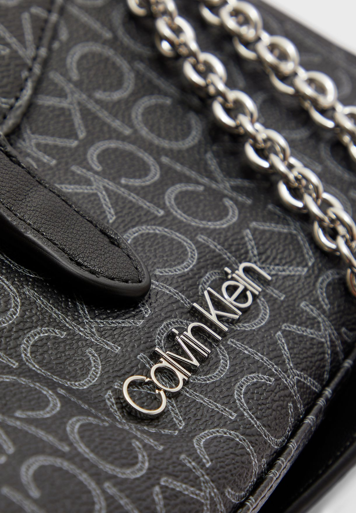 Logo Printed Flap Over Crossbody