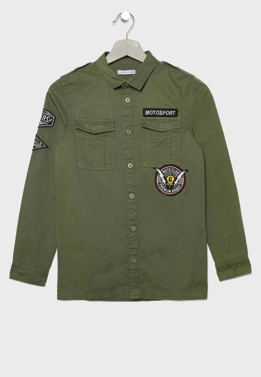 Teen Patch Detail Shirt