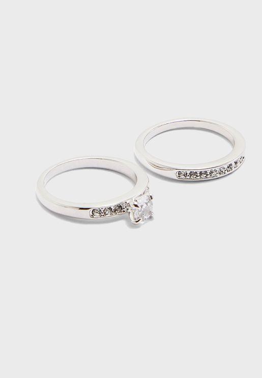 Annabelle Rhodium Ring