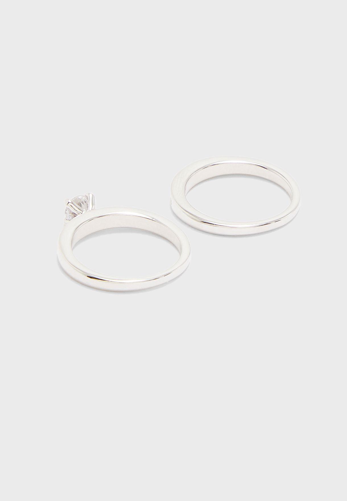 طقم خاتم زفاف ثنائي