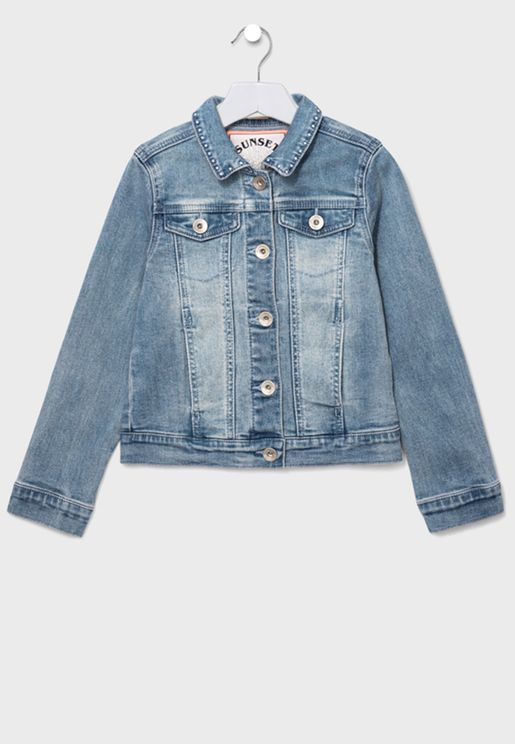 Youth Button Detail Denim Jacket