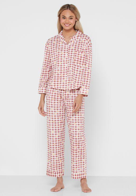 Checkered Pyjama Set