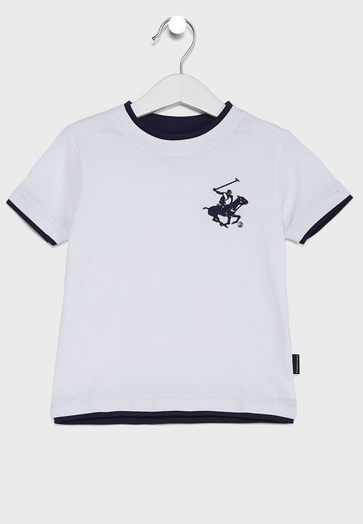 Little Embroidered Logo T-Shirt