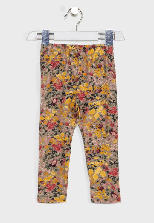 Kids Floral Leggings