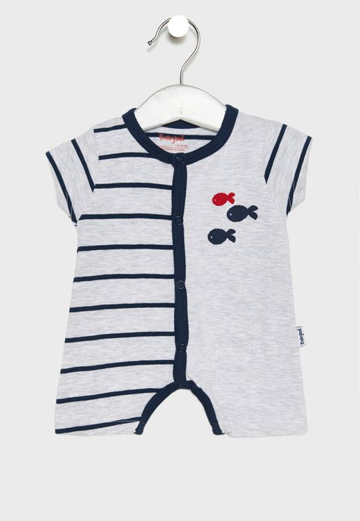 Infant Fish Graphic Romper